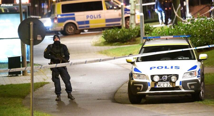 (ARKIV) Endnu en eksplosion rammer boligområdet Rosengården i Malmø. (Foto: 50090 Johan Nilsson/TT/Scanpix 2018)