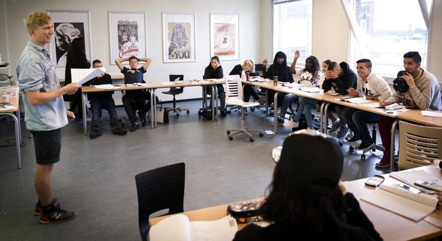 Arkivfoto: Sommerskole på Københavns Erhvervsakademi på Frederiksberg.