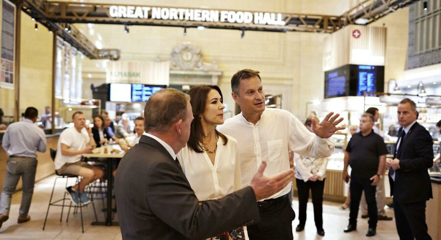 Kronprinsesse Mary og Statsminister Lars Lække Rasmussen besøger kokken Claus Meyer i hans nye projekt The Great Northern Foodhall på Grand Central Station i New York. (Foto:Troels Graugaard / Scanpix). (Foto: /Scanpix 2016)