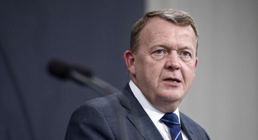 Arkivfoto af statsminister Lars Løkke Rasmussen.