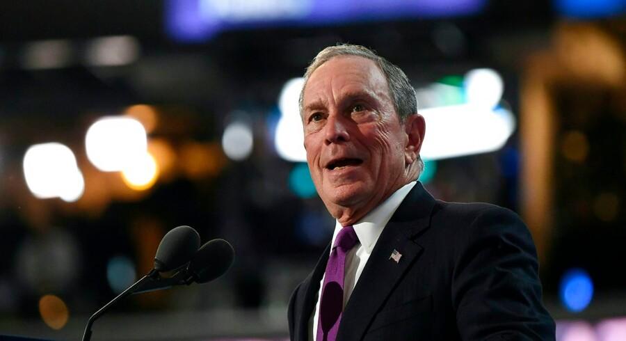 Michael Bloomberg på konventet.