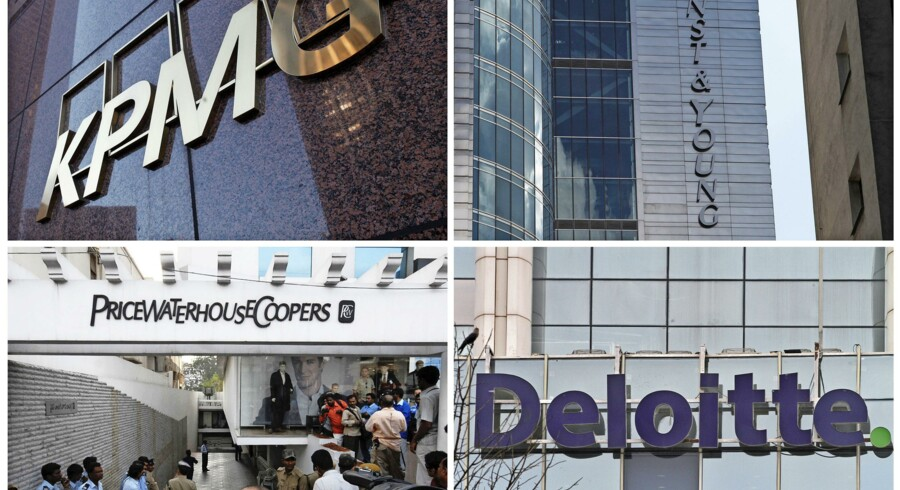 KPMG, Ernst & Young, Deloitte & Touche og PricewaterhouseCooper.
