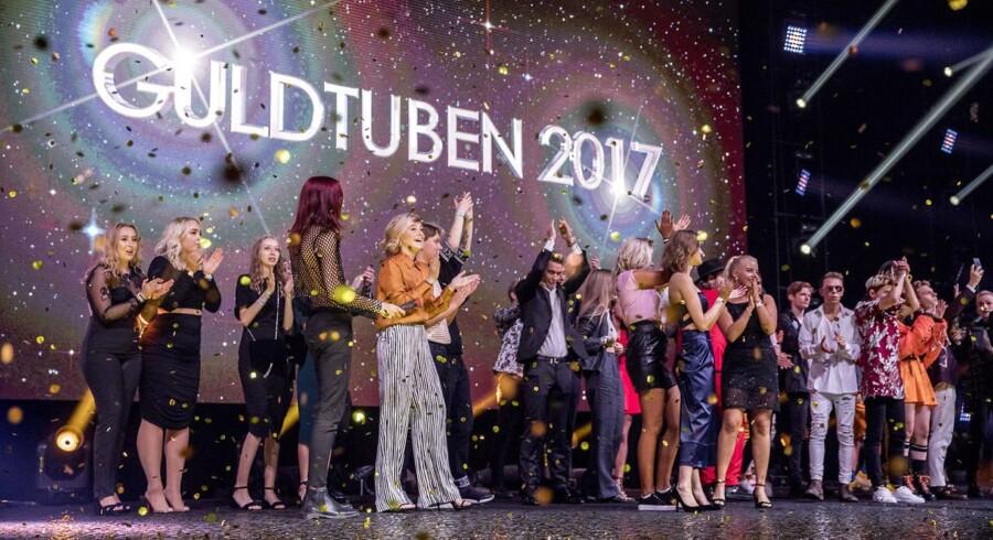 Der var både konfetti og ildkanoner til Guldtuben 2017.