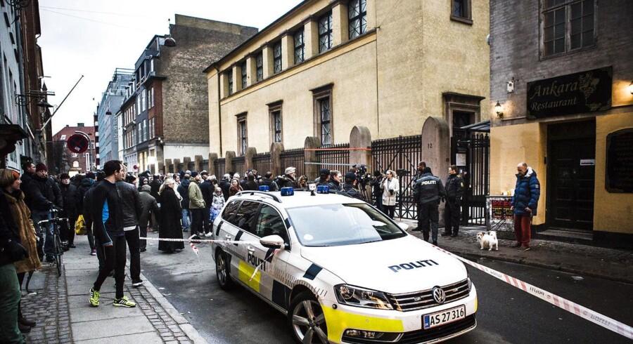 Arkivfoto. Angrebet ved synagogen i Krystalgade i København er medvirkende til at give Danmark en dårlig placering i rapporten om religionsfrihed.