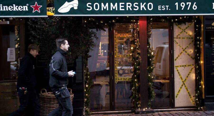 Cafe Sommersko facade udsat for hærværk.