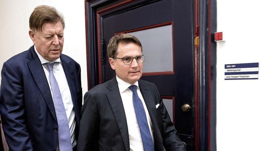 Erhvervsminister Brian Mikkelsen (K), som er pennefører på regeringens forsøg på at gøre noget ved den haltende konkurrence på realkreditlån.
