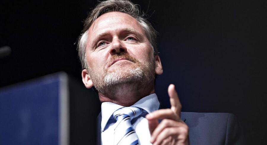 ARKIVFOTO. Anders Samuelsen siger i et interview til Børsen, at Liberal Alliance skulle have væltet Lars Løkke Rasmussen i august.