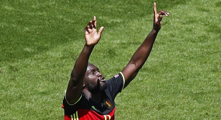 Belgiens Romelu Lukaku scorede to mål i sejren over Irland. Reuters/Regis Duvignau