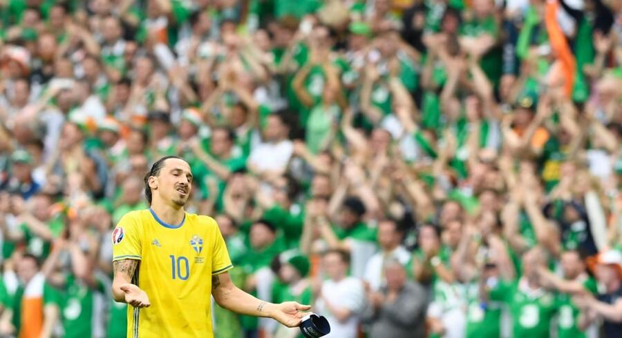 Zlatan Ibrahimovic er kritisk over for den svenske indsats i EM-premieren. Scanpix/Jonathan Nackstrand