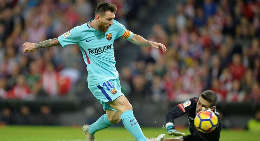 Barcelonas Lionel Messi i kampen mod Athletic Bilbao d. 28. oktober 2017.