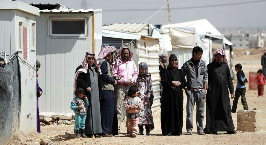 ARKIVFOTO 2017 Syriske familier i Zaatari flygtningelejr i Jordan. (Foto: THOMAS COEX/Scanpix 2017)
