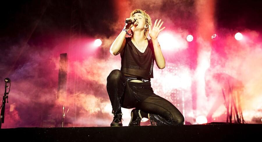Sangerinden MØ (her på Heartland festival 2018) er en af de musikere, der har klaret sig bedst i og uden for Danmark de seneste år - men som kvinde tilhører hun et mindretal i musikbranchen.Kværndrup, fredag d. 1/6 2018.. (Foto: Carsten Bundgaard/Ritzau Scanpix)