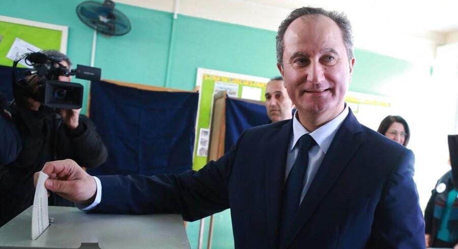 Valgkamp i Cypern har været domineret af landets splittelse. Siddende præsident ønsker forsoning.