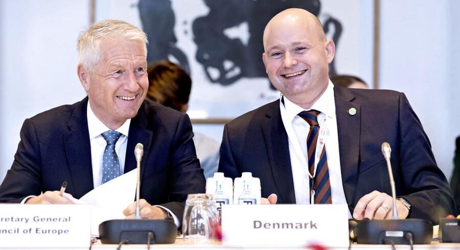 Justitsminister Søren Pape Poulsen åbner konference om reform af det europæiske menneskerettighedssystem. (Foto: Bax Lindhardt/ Scanpix 2018)
