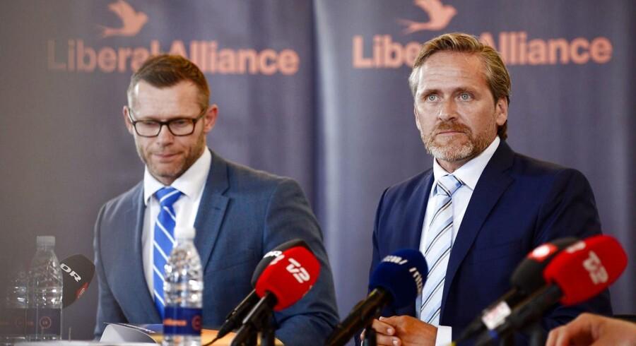 Liberal Alliances partileder Anders Samuelsen holder pressemøde på Christiansborg om regeringens 2025-plan.