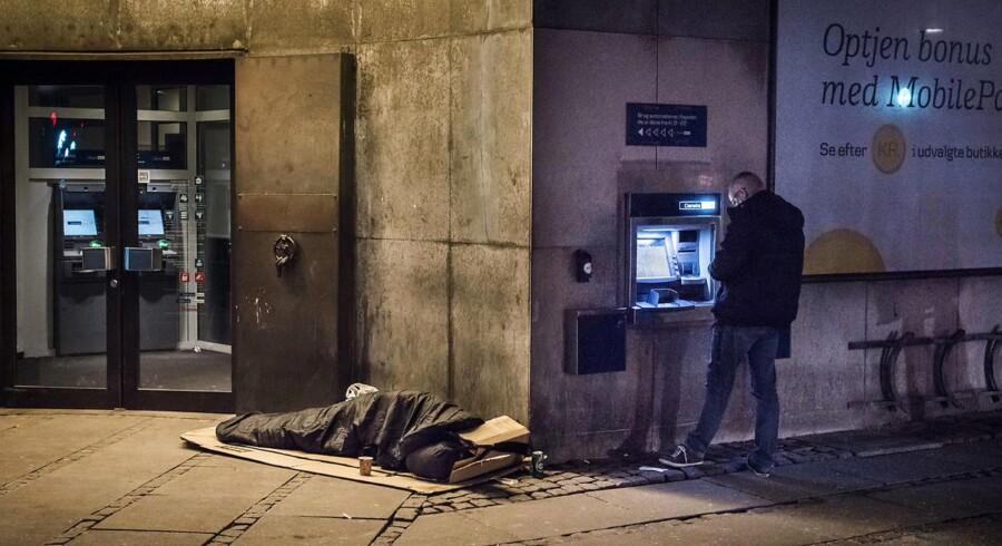 Københavns Kommune tæller hvert halve år antallet af personer, der sover på gaden i København.
