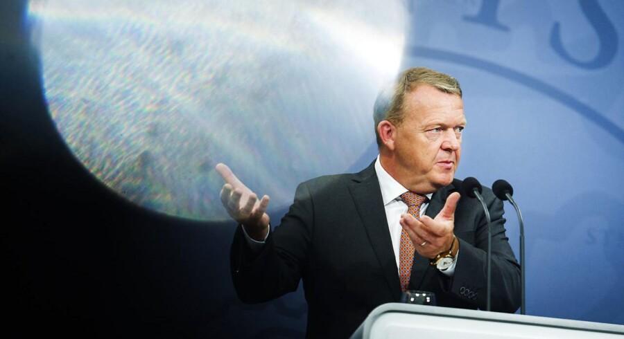 Statsminister Lars Løkke Rasmussen præsenterede tirsdag regeringens 2025.