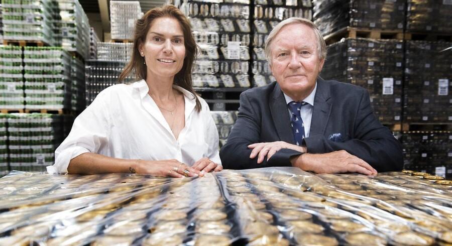 Arkvifoto: Harboe Bryggeri i Skælskør. Bernd Griese Harboe og datteren Karina Harboe Laursen.