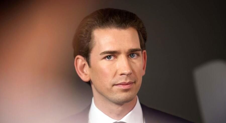 Østrigs formentlig kommende kansler, Sebastian Kurz.