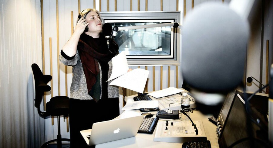Kirsten Birgit (Frederik Cilius) fra Den Korte Radioavis på Radio24syv. Foto: Adrian Joachim