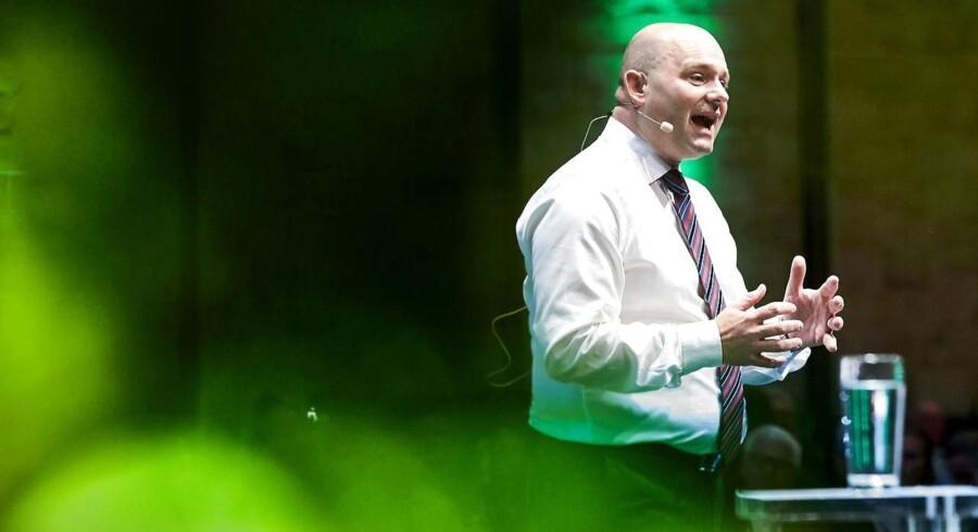 Søren Pape Poulsen på talerstolen ved landsrådet.