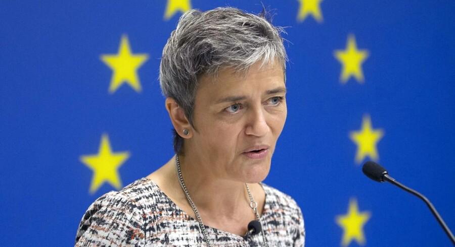 Margrethe Vestager overvejer også at give data, som virksomhederne har, betydning, når det afgøres, om fusioner og opkøb kan godkendes. Arkivfoto: Michael Reynolds, EPA/Scanpix