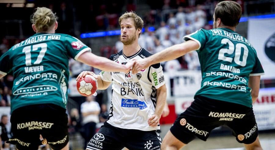 Ligahåndbold herrer. TTH møder Skanderborg. Viktor Östlund , TTH Holstebro (15) Foto: Johan Gadegaard