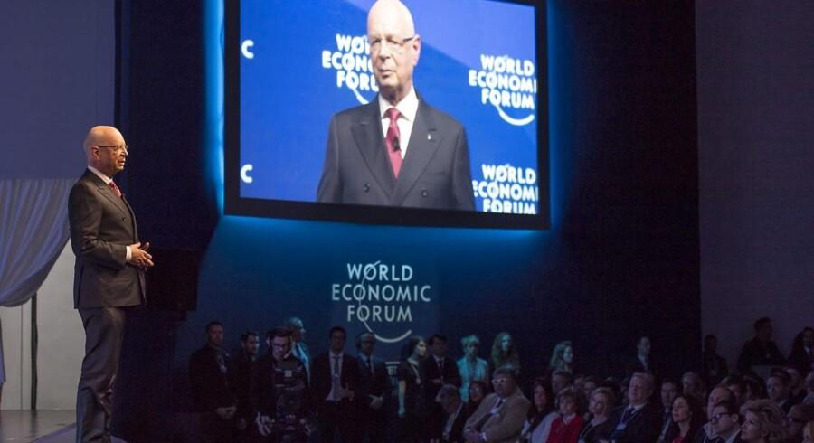 Tyske Klaus Schwab, stifter and præsident for the World Economic Forum (WEF) ved det 47 årsmøde.