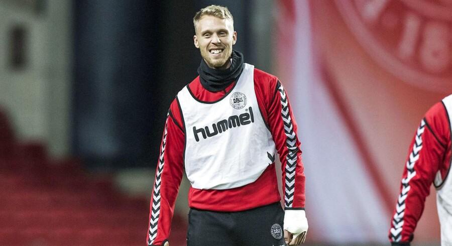 Arkivfoto. Dommeren, der skal dømmes Danmark-Irland lørdag, har sagt god for Nicolai Jørgensens skinne.