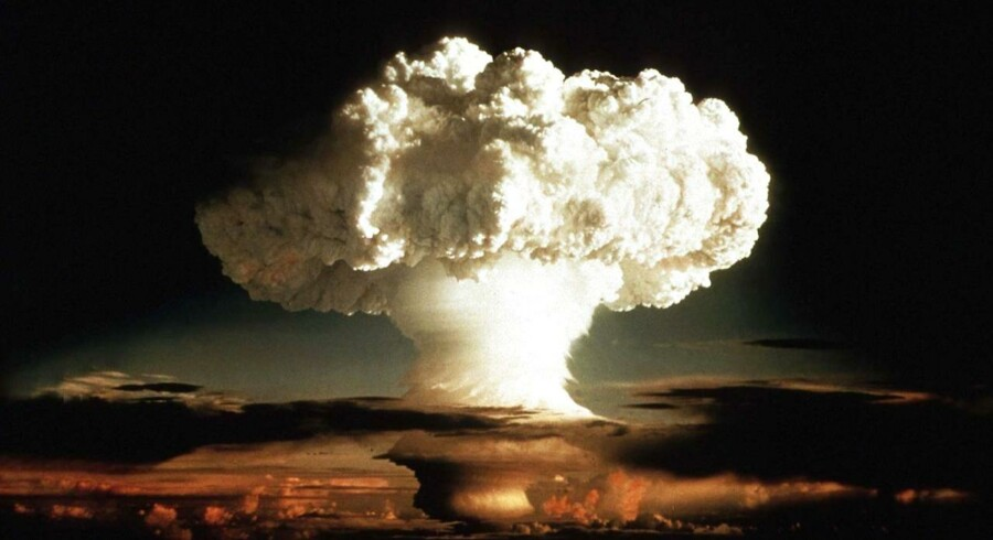 ARKIVFOTO 1952. Brintbomben Ivy Mike - første gang en brintbombe blev testet.