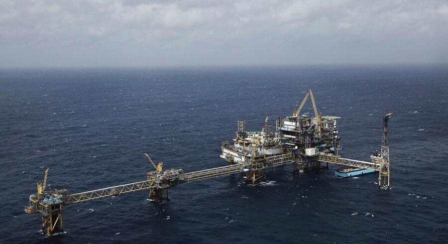 Det er 25 år siden, den første gas blev hentet op fra Nordsøen. På billedet ses Tyra Vest-feltet i Nordsøen. FOTO: Tom Ingvardsen/Mærsk Olie og Gas