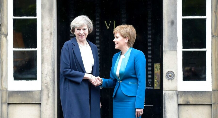 Theresa Mayog Nicola Sturgeon.