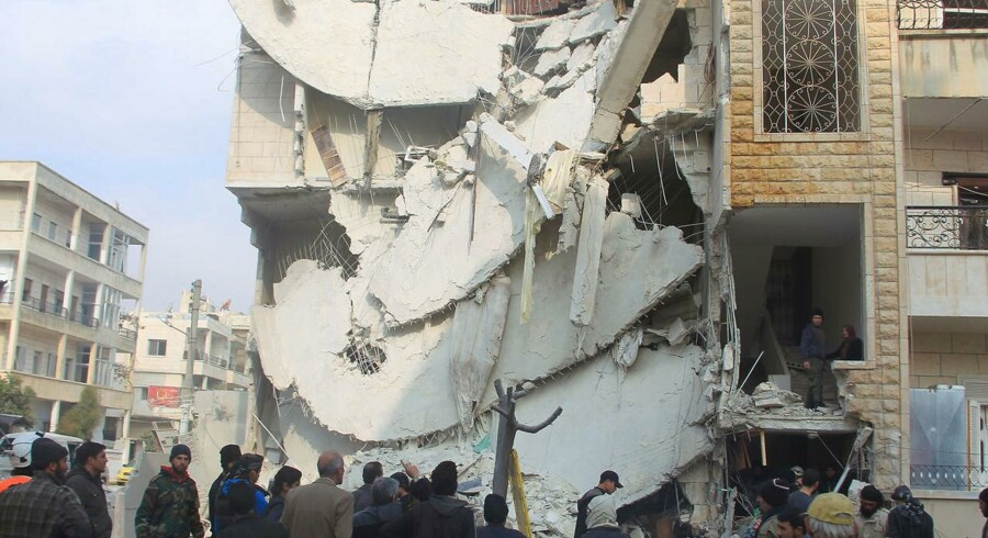 Den syriske by Idlib blev søndag d. 20. december angiveligt ramt i et russisk luftangreb
