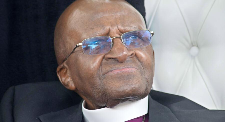 Nobelpris-vinderesn  Desmond Tutu er en omstridt person i Sydafrika. Foto: AFP/Roger Bosch