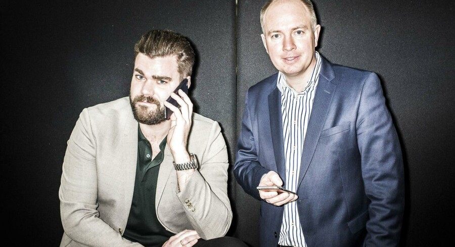 Det er kun halvandet år siden, at to gamle kendinge i televerdenen, Morten Strunge (til venstre) og Peter Mægbæk (til højre), søsatte teleselskabet Plenti i Danmark. Nu er selskabet solgt til TDC. Arkivfoto: Asger Ladefoged, Scanpix