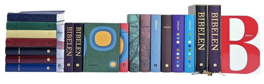 En ny kollektion med 21 bibler udgives i anledning af 200-årsjubilæet. Foto: Bibelselskabet