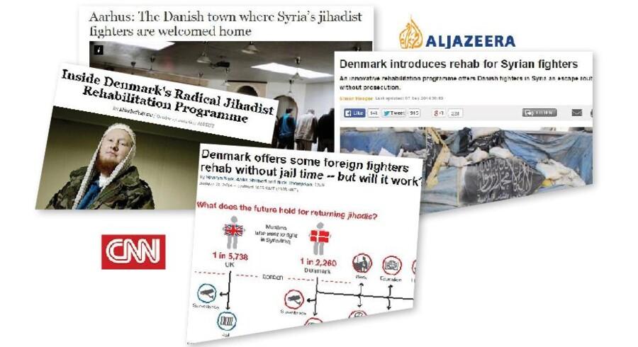 I de seneste uger har Aarhus og danske Syrien-krigere været centrum for en massiv mediedækning fra sværvægtere som eksempelvis CNN, Newsweek, Al Jazeera og Foreign Policy.
