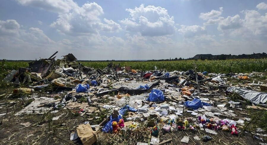 ARKIVFOTO. Stedet i Ukraine, hvor Malaysia Airlines MH17 styrtede efter at være blevet skudt ned nær landsbyen Grabove