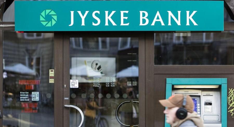 Jyske Bank kommer med mareridtsresultat i fjerde kvartal 2014. Foto: Jens Nørgaard Larsen/Scanpix 2014)