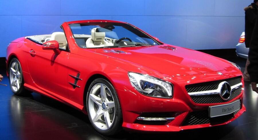 Mercedes er netop begyndt at markedsføre delleasing, men undrer sig over, at fænomenet ikke er mere udbredt. Her ses den nye Mercedes Benz SL.