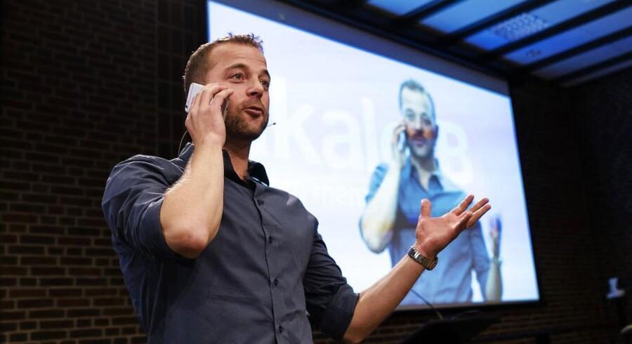 Morten Østergaard indledte sin landsmødetale med at snakke i telefon med det sidste nye medlem af Radikale Venstre