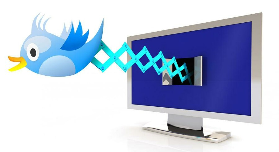 Melodi Grand Prix fik mange flere danskere til at bruge nettjenesten Twitter, hvorigennem man kan sende korte beskeder. Illustration: Iris/Scanpix