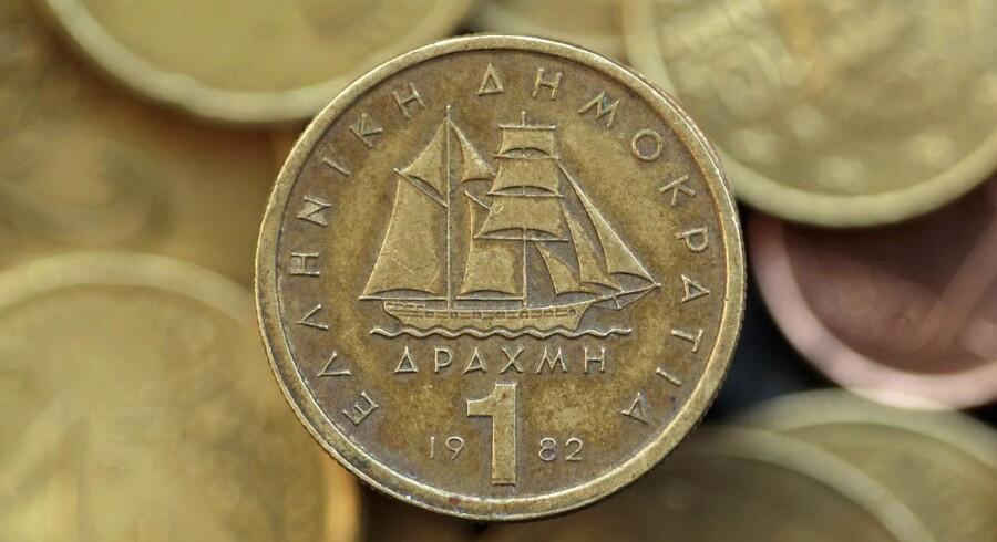 Grækenland kan ende med at sige farvel til euroen og genindføre drakmer som valuta. Økonomer vurderer, at risikoen for »Grexit« er fifty/fifty.