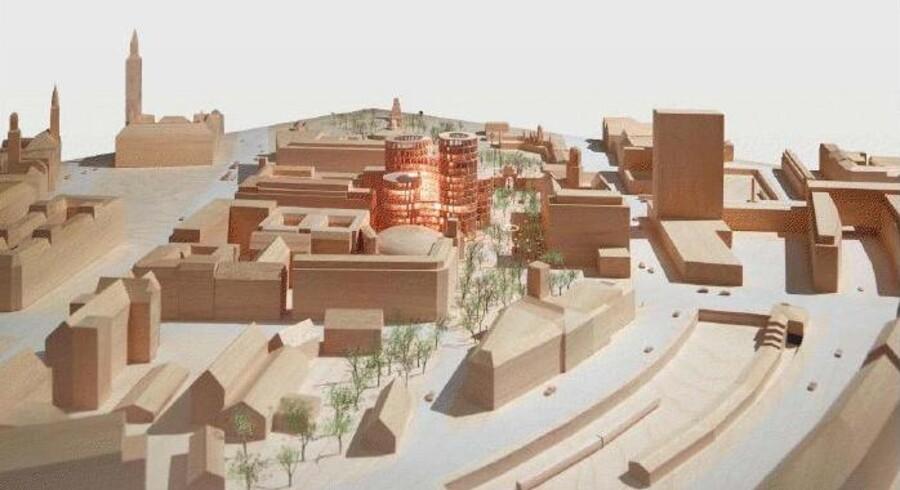 Fem højhuse skal erstatte den tomme Scala-bygning ved Tivoli, hvis det står til arkitekt Lene Tranberg og Ejendomsselskabet Norden. Embedsmændene på Københavns Rådhus anbefaler politikerne i teknik- og miljøudvalget at støtte projektet.