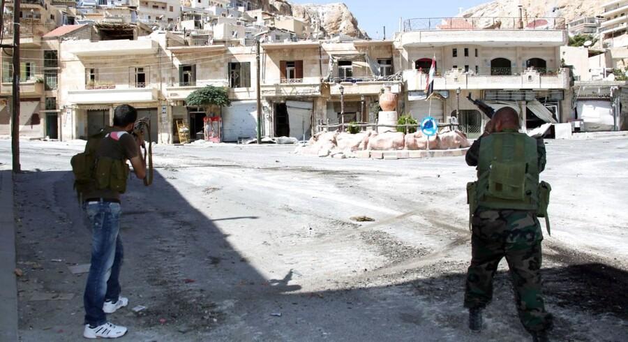Fra hele verden er der rejst sympatisører til Syrien for at deltage i borgerkrigen. Mændene på billedet har intet med den danske sag at gøre.