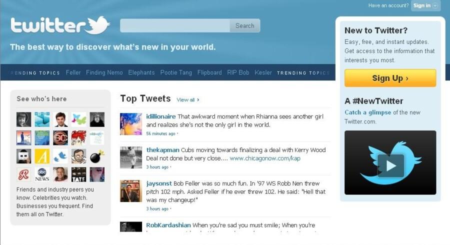 Man sender SMS-lignende småtekster til Twitter, hvor andre kan følge med. Den ide er nu over 20 milliarder kroner værd.
