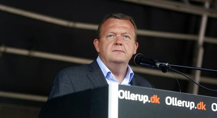 V-formand Lars Løkke Rasmussen holder sin grundlovstale i Vester Skerninge ved Ollerup torsdag d. 5 juni 2014.