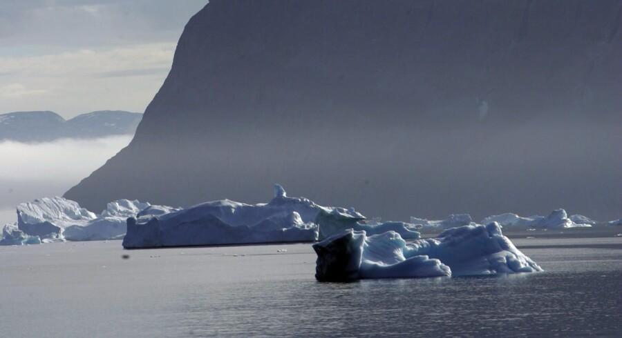 Olie- og gasindustrien viser stor interesse for området ud for Østgrønland, hvor der ifølge amerikanske geologer ligger energiressourcer svarende til 31 milliarder tønder olie gemt under havbunden. Arkivfoto: Keld Navntoft