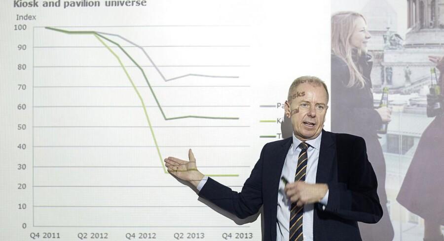 Carlsberg-chefen Jørgen Buhl Rasmussen præsenterer 2013-tallene. Asien spiller en afgørende rolle for væksten den kommende tid.
