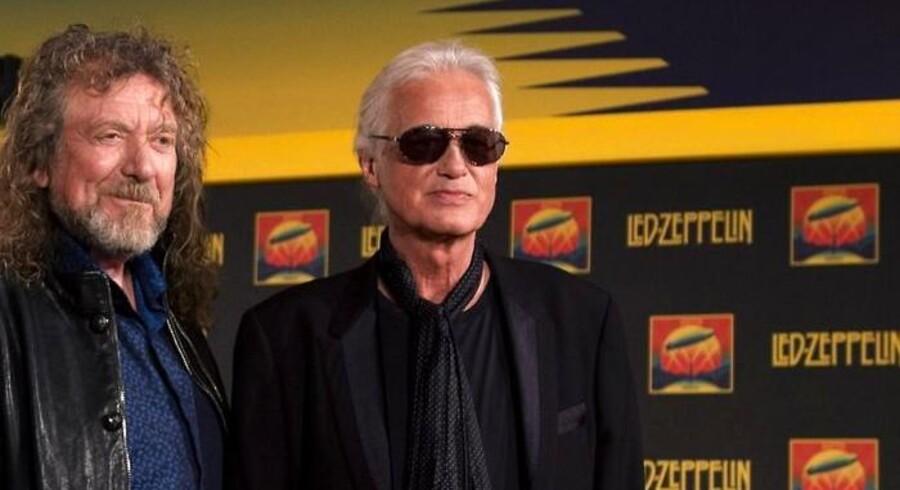 ARKIVFOTO. Led Zeppelin-guitaristen Jimmy Page (t.h.) fylder 70 år 9. januar.